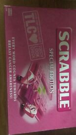 Scrabble. Special edition pink TLC.