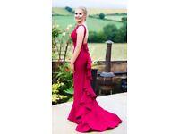 Beautiful wine prom bridesmaid dess