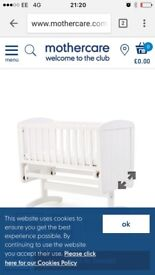 Swinging crib from mothercare