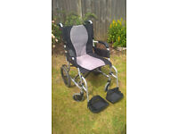 Karma wheelchair, very light weight and packs away into a car easily. very good condition