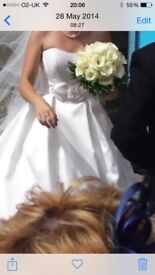 Opulence wedding dress size 10 dry cleaned and ready to wear
