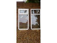 2 high quality double glazed windows 144cm high x72cm width approx