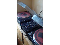 Technics Mk2 turntables x2 - (optional Allen + Heath XONE 23C mixer)