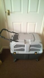 Dog/cat/rabbit/pet carrier - on wheels, airline approved