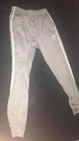Adidas superstar men's trackies grey