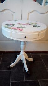 Shabby Chic Round Side Table