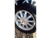 """Set of original 15"""" renault clio alloy wheel"""