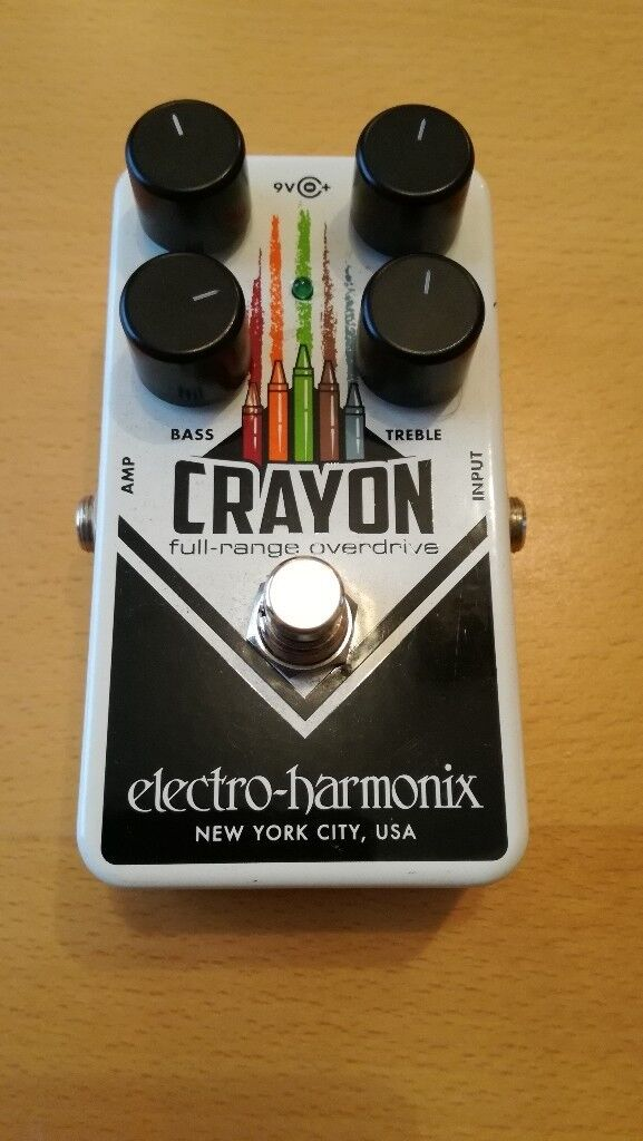 Electro Harmonix Crayon overdrive effects pedal stomp box