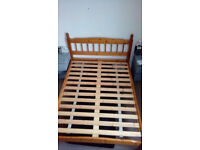 Solid wood standard double bed frame
