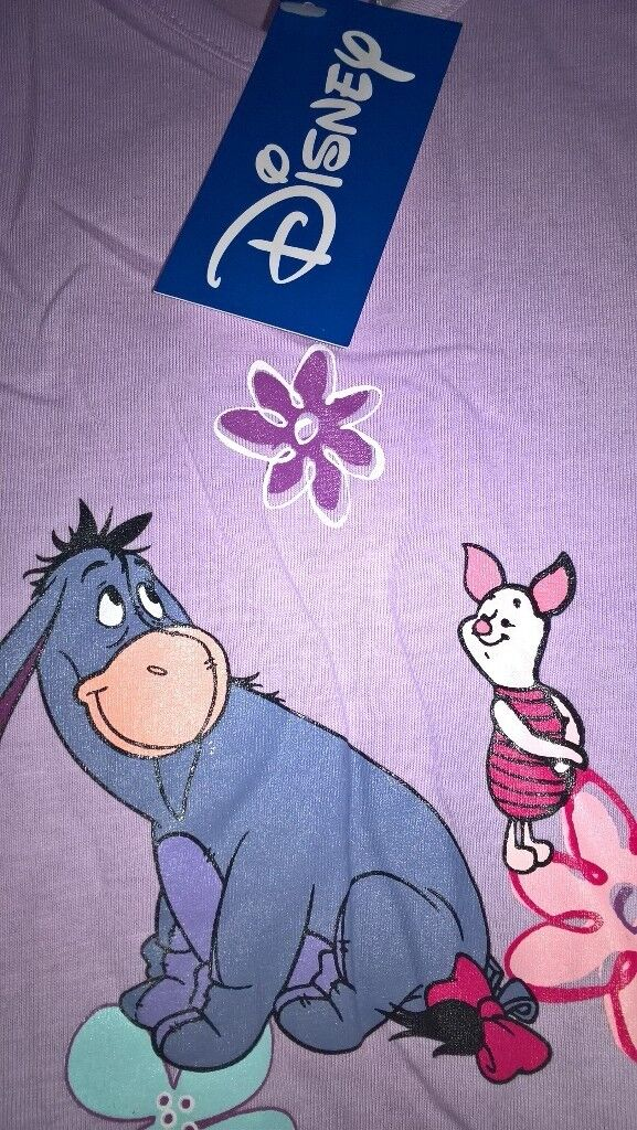 c1a55457a2 Disney Eeyore   Piglet Winnie The Pooh Lilac Nightshirt 10 12 As New Tag  Still Attached