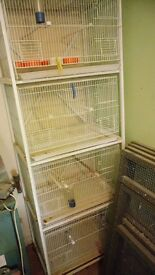 4 Wire Bird cages and Rack.