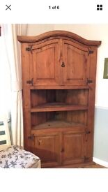 Corner shelves, Mexican pine, good condition