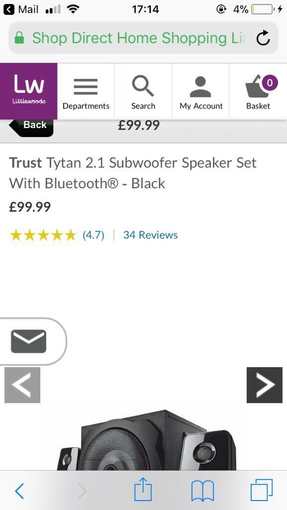 Bluetooth speaker system comes with aux lead just no box. Had it under 2 week