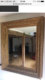 19th Century Gilt Plaster & Wood Framed Mirror