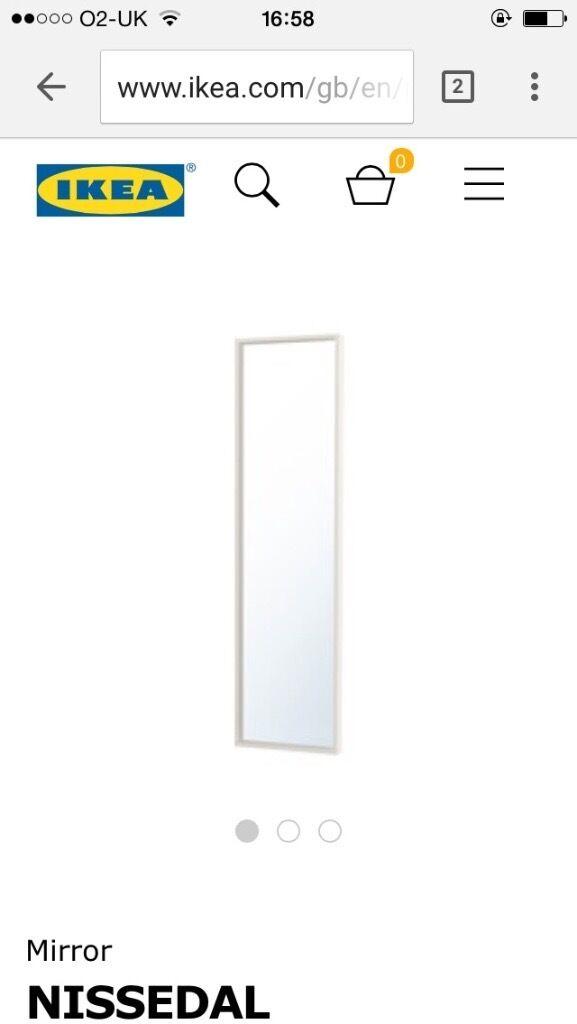 Ikea nissedal mirror in southampton hampshire gumtree for Miroir nissedal