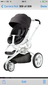 Quinny Moodd gorgeous pram suitable for boy or girl slightly used comes with raincover