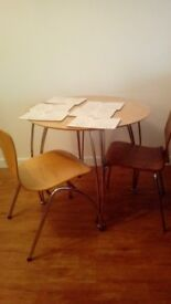 Table, Chairs and Place Mat Set