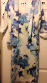 Suit floral blazer and dress 8/10