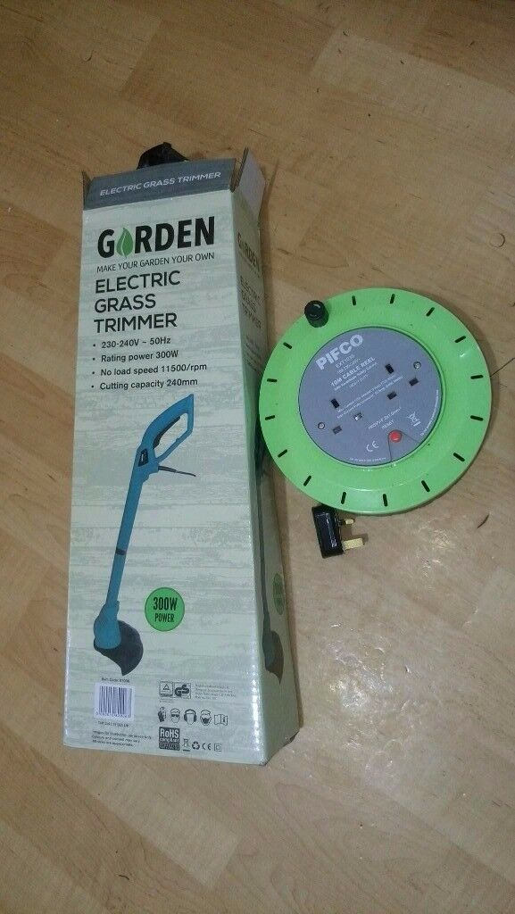 Electric Grass Trimmer + 10m Cable