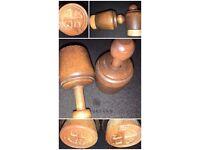 Vintage Oak Biscuits Markers / Ink Stamps