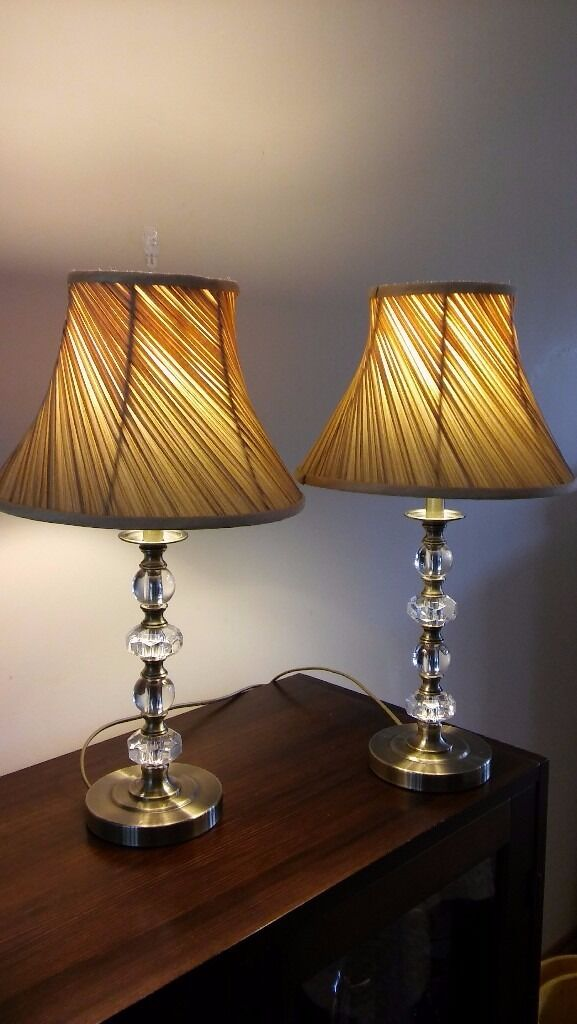 Two matching Table Lamps, including shades, very good condition.