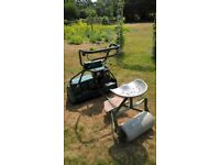 ATCO BALMORAL B30 CYLINDER MOWER WITH ROLLER SEAT AND BOX.