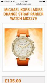 Micheal Kors Orange Strap Parker Watch