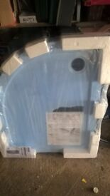 Mira Flight 1000 x 800 Low Level Quadrant Shower Tray. Unused (Right Hand)
