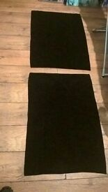 2 Black Bath Mats £1 each