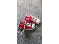 Girls pink hi tops converse size 7