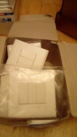 Brand new box of 7 triple light switches