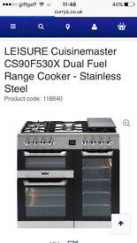Leisure Brand New Range Dual gas cooker ..90cm