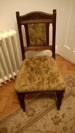 Six Edwardian dining chairs