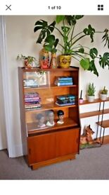 Vintage retro 70s book shelf shelving unit