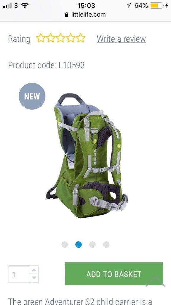 be61a6258d2 Littlelife Adventurer S2 Child Carrier (Green)