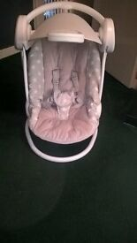 mamas and papas mp3 swinging chair with light show hood and timer.
