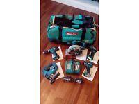 New & used Makita power tools