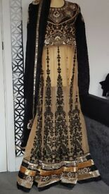 Black and Beige Anarkali