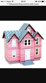 Melissa and Doug Victorian dolls house with furniture