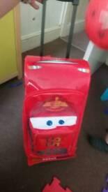 Disney store lightening mcqueen suitcase