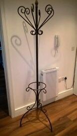 Black Gothic Wrought Iron Coat Stand