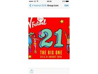 2 X v fest weekend tickets western park no camping included £230 ono