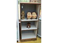Solid rustic pine storage unit bookcase