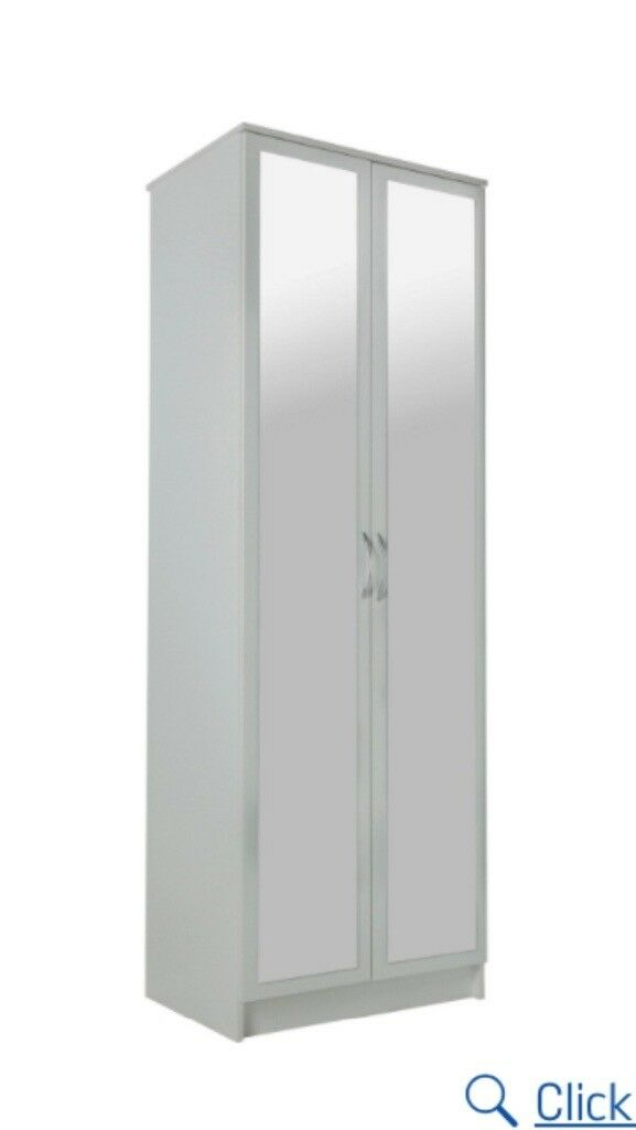 Small White Double Door Mirrored Wardrobe In Witney Oxfordshire Gumtree
