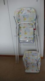 Bebe Confort Folding High Chair Highchair + inner seat for younger baby