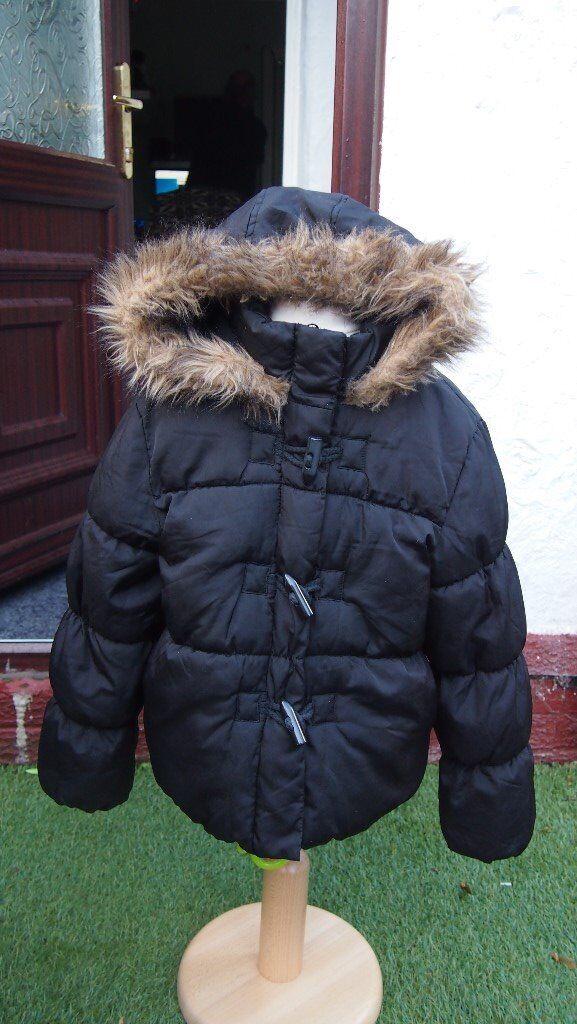 Marks & Spencers Girls Black Coat