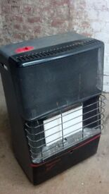 Calor gas heater and full bottle
