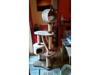Cat scratching post/activity centre