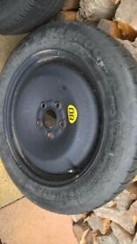 Unused Space Saver Wheel and Tyre 125/85/R16