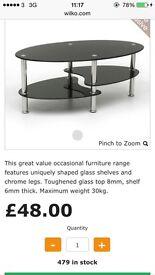 Ex. Display glass coffee table